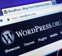 wordpress i en browser