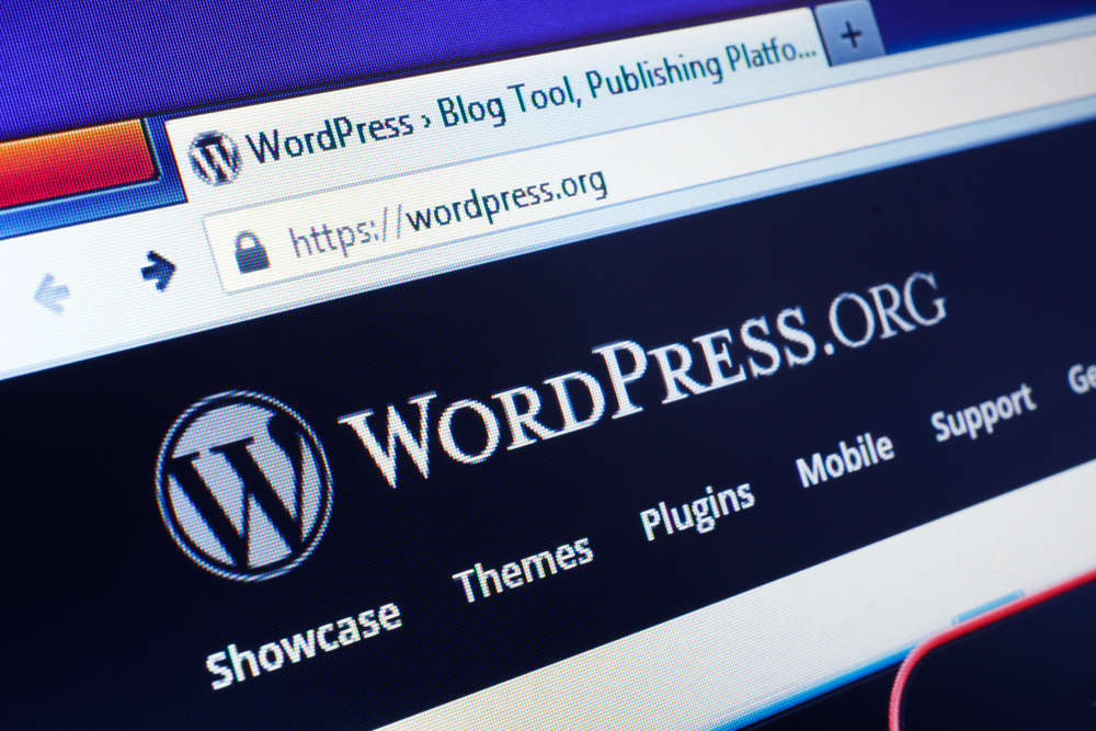 wordpress i en browser